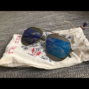 Free People Mirrored Sunglasses